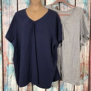 Lot Of 2 Woman Within Size 3X Tops